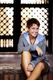 Smiling short haired teen Stock Photo