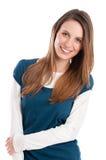 Smiling shy girl royalty free stock image