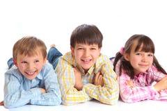 Smiling Siblings Stock Images