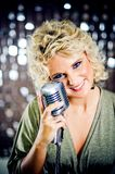 Smiling singer Stock Photography