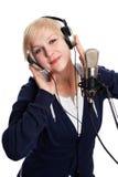 Smiling singer Royalty Free Stock Image