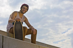 Smiling Skateboarder Royalty Free Stock Photos
