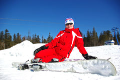 Smiling skier Royalty Free Stock Images