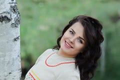 Smiling Slavic girl Stock Image