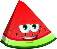 Smiling slice of watermelon Stock Image