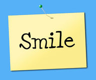 Smiling Smile Indicates Placard Emotions And Positive Stock Photos