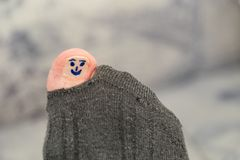 Smiling smiley face toe Stock Images