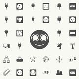 Smiling smiley icon. Detailed set of Minimalistic icons. Premium quality graphic design sign. One of the collection icons for we. Bsites, web design, mobile app stock illustration