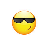 Smiling Smiley with sunglasses Stock Image