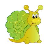 Smiling snail cartoon Royalty Free Stock Image