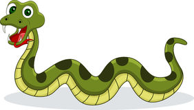 Smiling snake cartoon Royalty Free Stock Images