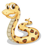 A smiling snake stock illustration