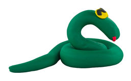 Smiling snake made from clay Stock Photography