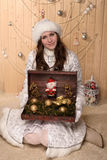 Smiling snow maiden Stock Images