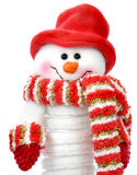 Smiling snow man Stock Photo