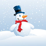 Smiling Snowman Royalty Free Stock Photography