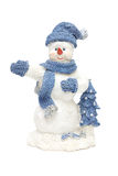 Smiling snowman Stock Images