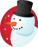 Smiling snowman Stock Photos