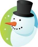 Smiling snowman vector illustration