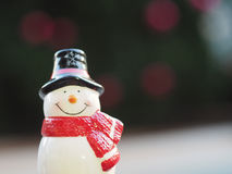 Smiling snowman Stock Image