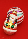 Smiling Snowman Christmas Ornament Royalty Free Stock Photography