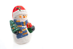 Smiling snowman figurine Royalty Free Stock Photo
