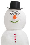 Smiling snowman. Isolated on a white background Stock Image
