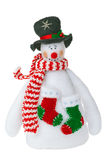 Smiling snowman toy Royalty Free Stock Images