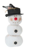 Smiling snowman toy Stock Photos