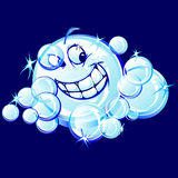 Smiling Soap Bubbles Cartoon Image Stock Photo