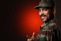 Smiling soldier Royalty Free Stock Photo