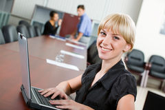 Smiling specialist Stock Image