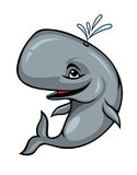 Smiling sperm whale. On white background. Vector illustration Stock Photography