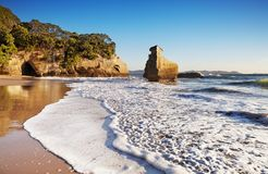 Smiling Sphinx rock, New Zealand stock image