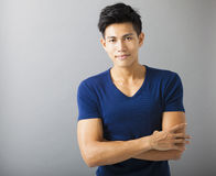 Smiling sportive young  man Royalty Free Stock Photo