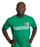 Smiling sports fan from Cameroon royalty free stock images