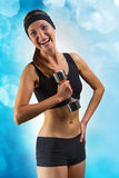 A smiling sports girl Royalty Free Stock Photography
