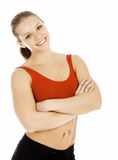 Smiling sports woman royalty free stock photography