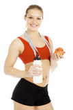 Smiling sports woman Stock Photography