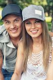 Smiling sporty couple Royalty Free Stock Images