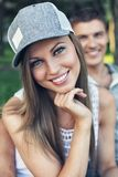 Smiling sporty couple Royalty Free Stock Image