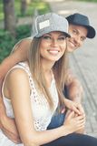Smiling sporty couple Royalty Free Stock Photography