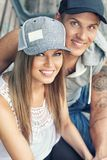 Smiling sporty couple Stock Photos