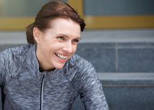 Smiling sporty woman Royalty Free Stock Photography
