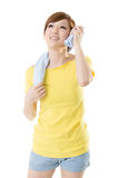 Smiling sporty woman Stock Photography