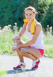 Smiling sporty young female Royalty Free Stock Image