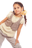Smiling standing little girl Royalty Free Stock Photography
