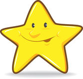 Smiling Star. Illustration of yellow Smiling Star Stock Image