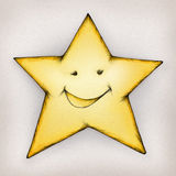 Smiling star. Illustration of a smiling star Stock Photos