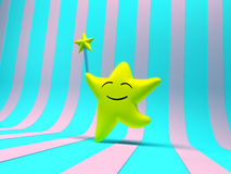 Smiling star with magic wand Stock Photography